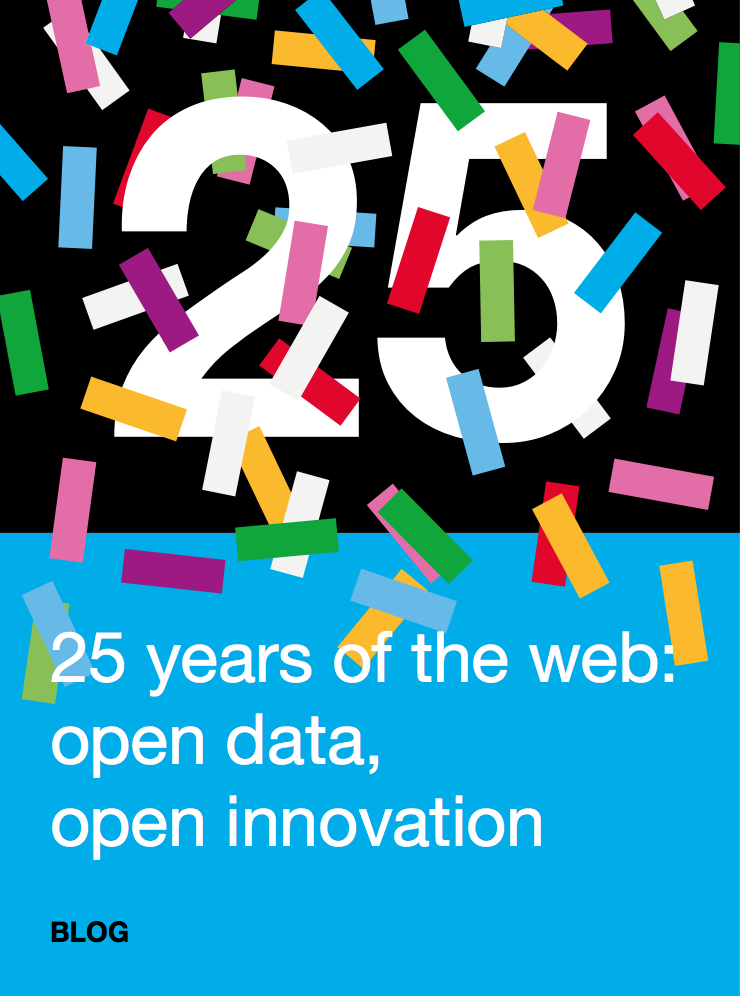 25 years of the web: open data, open innovation